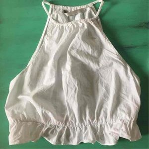 Zara white ruffle crop top